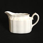 "Staffordshire White Creamer Ironstone Made in England ""White Mist"""