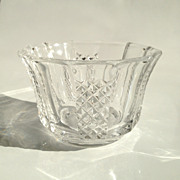 Hand Cut Lead Crystal Open Salt Bowl Cellar
