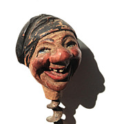 SOLD Anri Hand carved Wood Cork Screw With a fabulous Laughing Face