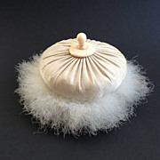 SOLD Swan's Down Powder Puff ~ Turn of the Century c1890s