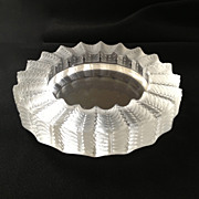Lalique Crystal Ashtray Signed c 1960s Jamaique Collection