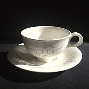 """Fantasy"" Cup & Saucer by Eva Zeisel for Hallcraft"