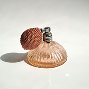 1930s Pink Perfume Bottle with Atomizer