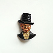 c1930s Charlie McCarthy Pin