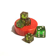 REDUCED Bakelite Dice and Chip