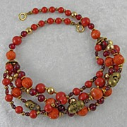 Hattie Carnegie Multi Strand Beaded Necklace