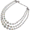 Coro 3 Strand Austrian Crystal Beads Necklace Original Tag