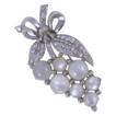 Coro Pegasus Moonglow Rhinestone Grapes Pin Brooch