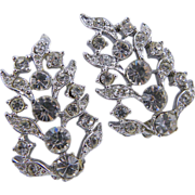 Charel Clear Rhinestone Clip Earrings