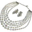 Laguna 5 Strand Crystal Necklace & Earrings Set