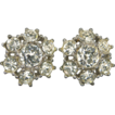 Bogoff Clear Rhinestone Screw-on Earrings