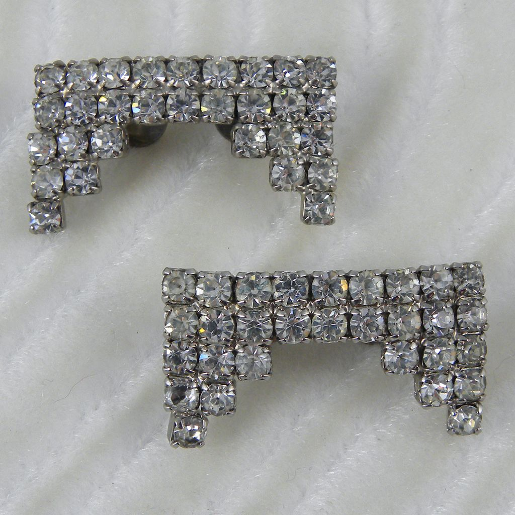Pair of Clear Rhinestone Shoe Clips