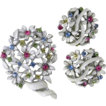 Lisner Enamel & Pastel Rhinestones Set Pin Earrings