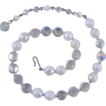 Hobe Crystal & White Beads Necklace