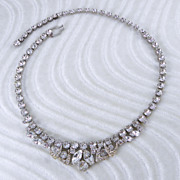 Weiss Clear Rhinestone Choker Necklace