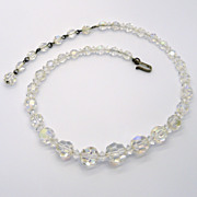 Laguna Graduated Crystal Beads Necklace
