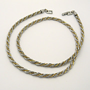 Napier Two Tone Twisted Rope Chain Necklace