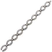 Ledo Clear Rhinestone Oval Links Bracelet