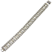 Francyne Clear Rhinestone 3 Row Bracelet