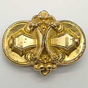 Victorian Small Gold Filled Pin Brooch