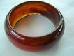 Vintage Amber colored lucite bangle bracelet