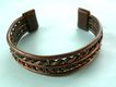 Vintage Cuff bracelet composed of rope like copper metal