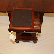 American Empire Mahogany Sewing /Work Table with Drop leaves & Drawers c.19th