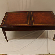 "English Style Mahogany Expanding Coffee Table Stamped ""Weiman"" Circa 1940's"