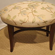 SOLD English Hepplewhite Mahogany Oval Vanity Bench Circa 1920's