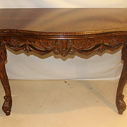 French Provincial Long Sofa/Console Table with flip top , Circa 19th