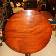 English Queen Ann Solid Mahogany Tilt Top Table, Circa 19th