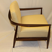 Mid Century Danish Modern Wooden Frames  Arm Lounge Circa 1940's Chair