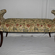 Regency Style Cherry Long Bench for Window, Hall or Bedroom.  Circa 1920's
