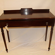 English Authentic Figured Mahogany Server with one Drawer, Circa 1920's
