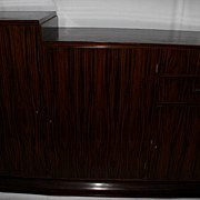 French Art Deco Modern Rosewood Bar, Buffet or Entertainment Cabinet, c.1920's