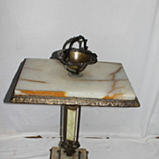 Victorian Onyx and Gilded Metal Smoking Stand , Good Condition Circa 19th