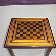 American Classical Satinwood, Ebony and Walnut Cheeked game Table, Circa 1930s'