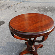 American Regency Style Walnut and Rosewood Pair of End /SideTables, Circa 1920s'