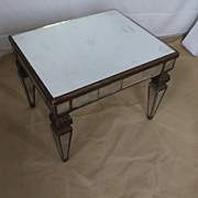 Venetian/Neoclassical Style Mirrored Decorative End Table, Circa 1920s