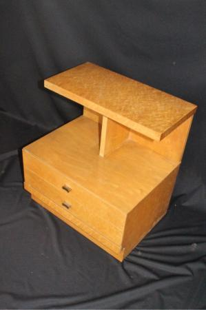 Art Deco/ Modern Birds Eye Maple Night Stand  Circa 1940s