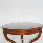 Danish Labeled by John Stuart  Walnut Book Matched Top End/Side Table c.1934