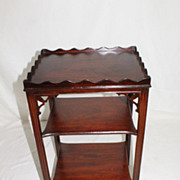 American Chinese Chippendale Mahogany Tiered Table, Circa 1920s'