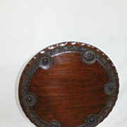 An Anglo Indian Padook or Teak Round Tilt-Top Side Table Circa 19th