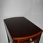English Regency Style Mahogany Drop Leaf Table, Banded with Inlaid, Circa 1920's