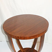 French  Classical Art Deco Veneered Walnut SideTable, Circa 1930s