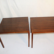 Mid Century  Pair of End or Side Tables by Paul Mayen