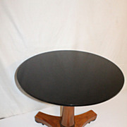 Biedermeier Style Cherrywood and Ebonized Top Center Table Circa 1930s
