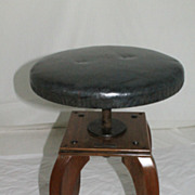 Biedermeier Style Fruit Wood Rare Stool or Bench, Circa 1930s'