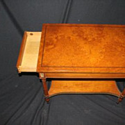 Biedermeier Style Fruit wood Side Table Labeled by John Stuart, Circa 1930s'