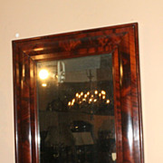 American Federal / Empire OGEE  Figured Mahogany Mirror circa 1825